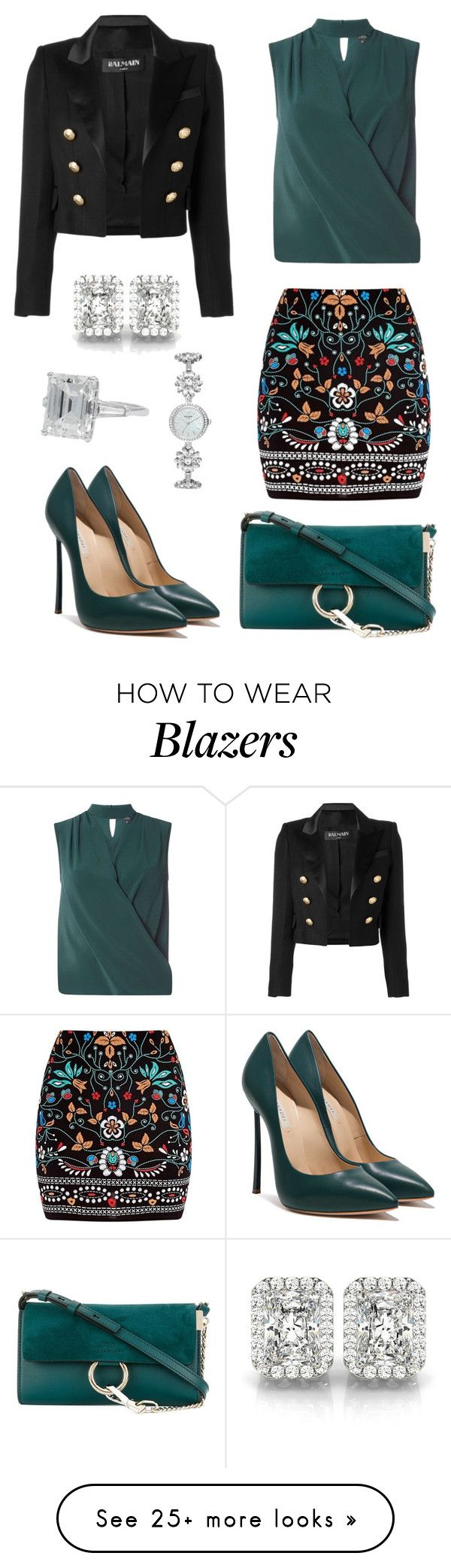 """Untitled #868"" by rubysparks90 on Polyvore featuring Chloé, Dorothy Perkins, Marni, Balmain, Allurez and Kate Spade"