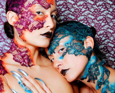 I thought this was interesting.  Creative stylist.Crazy Face Makeup, Costumes Makeup, Lace Face, Halloween Makeup, Body Painting, Makeup Ideas, Blue Lace, Face Painting, Crazy Makeup