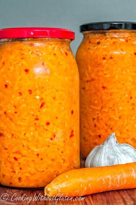 Квашеная морковь с имбирем, чесноком и острым чили перцем