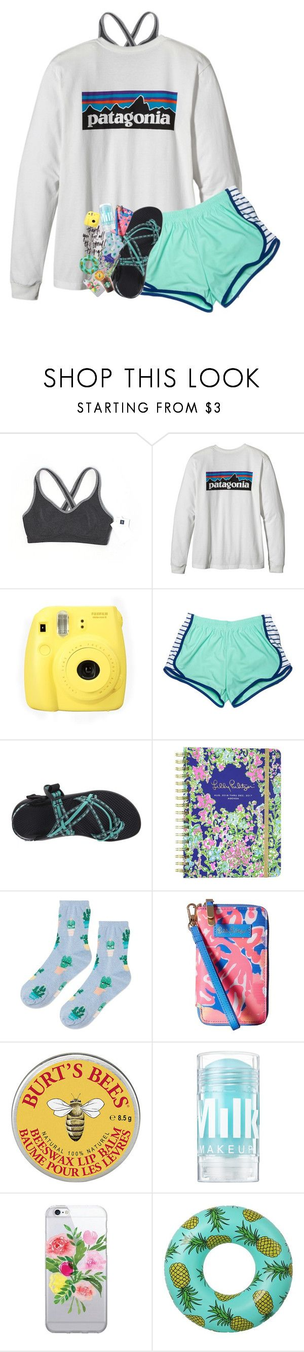 """""""live."""" by southernmermaid ❤ liked on Polyvore featuring Gap, Fujifilm, Chaco, Lilly Pulitzer, Topshop and Nika"""