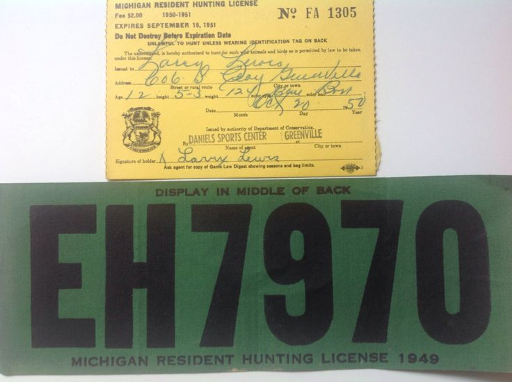 25 melhores ideias sobre hunting license no pinterest for Michigan non resident fishing license