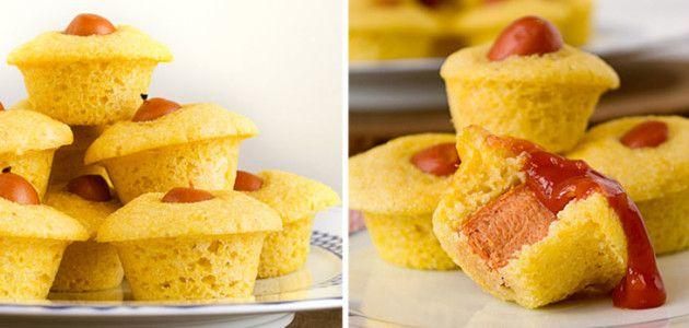 Perrito caliente en muffin y otras cuatro recetas más