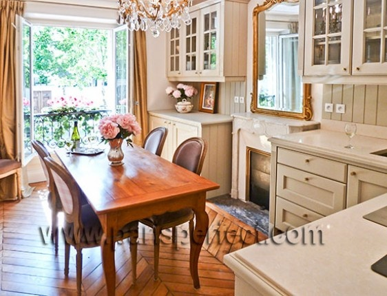 French provincial kitchen.
