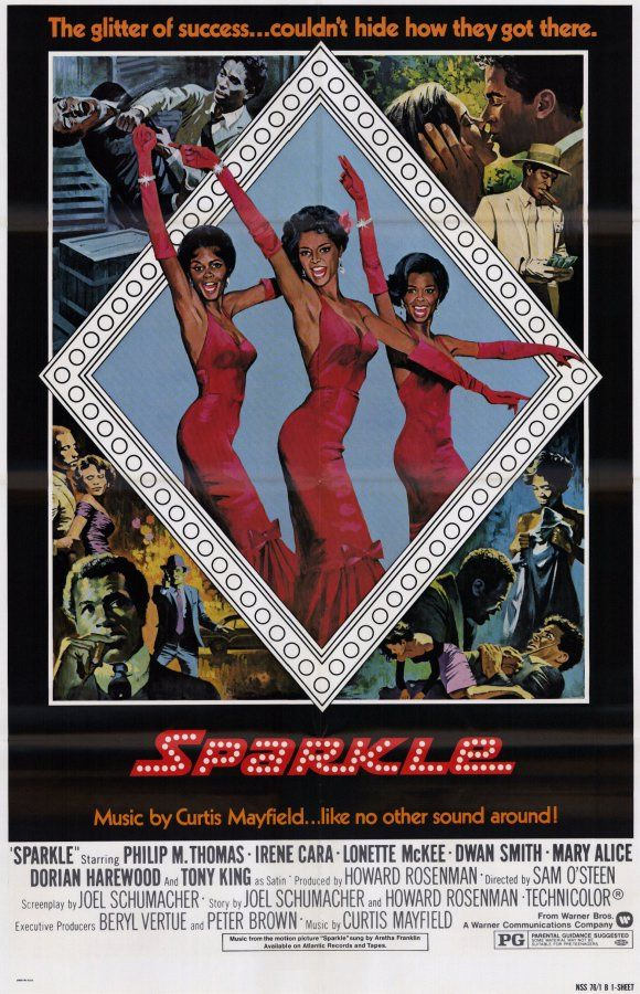 "the original ""Sparkle"" movie poster"