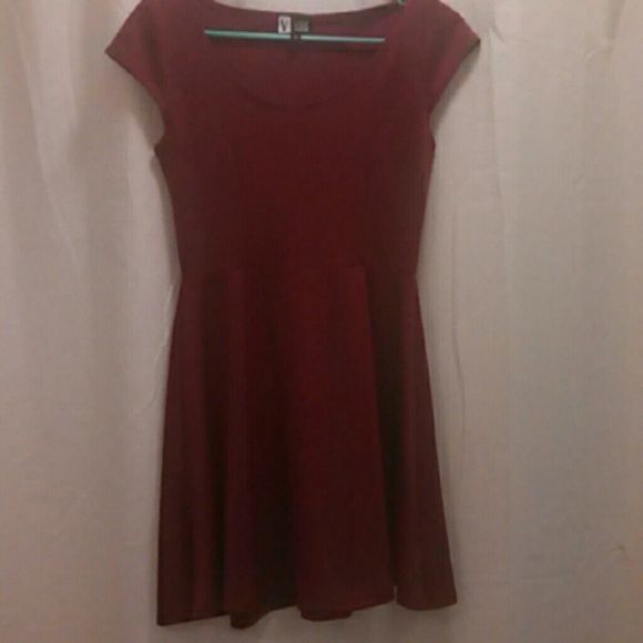 Beautiful Maroon Skater Dress! This is a brand new maroon dress unfortunately it was too small for me so I don't want it to go to waste! Vibe  Dresses