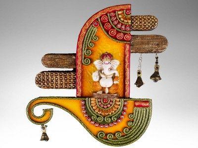 Handcrafted Papier Mâché Ganesha Wall Décor - ArtisanGilt.com A Handmade Lifestyle Products Company