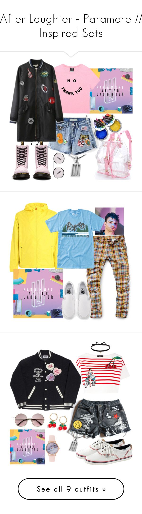 """""""After Laughter - Paramore // Inspired Sets"""" by paramore-24 ❤ liked on Polyvore featuring WithChic, Gucci, Dr. Martens, Save the Duck, G-Star Raw, HippyTree, Vans, men's fashion, menswear and J.Crew"""