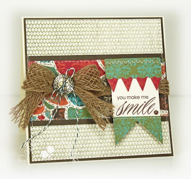 Debbie CarriereStella Cards, Cards Ideas, Mondays 239, Ctmh Stella, Burlap Ribbons, Birthday Cards, Ctmh Cards, Mojo Mondays, Make Me Smile