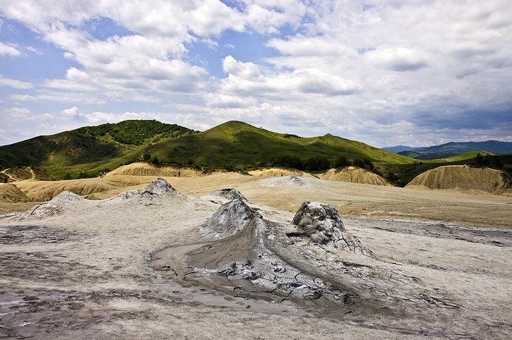 Muddy Volcanoes - Buzău County, Romania. Photo Source: www.valiovidiu.ro