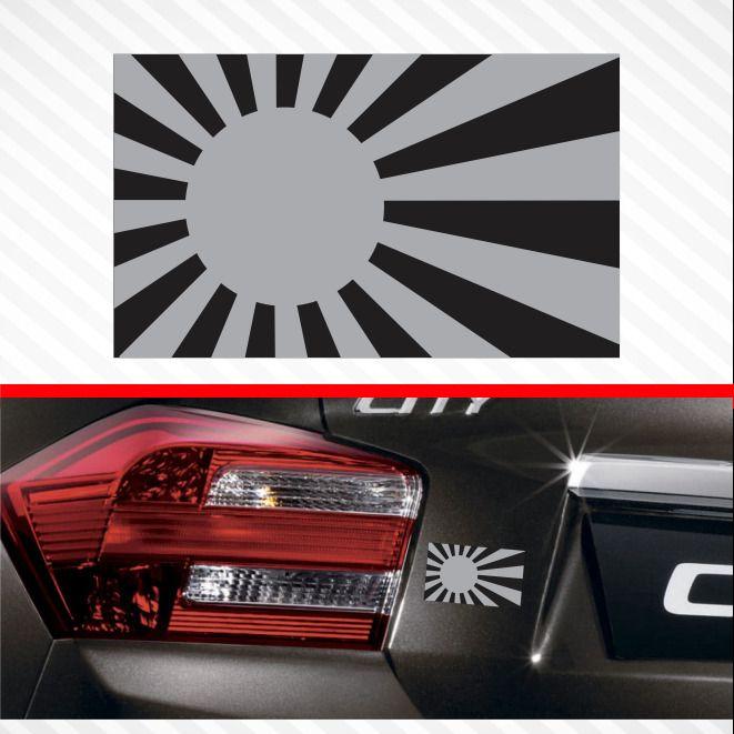 Sticker decal vinyl decals national flag car ensign bumper japan japanese