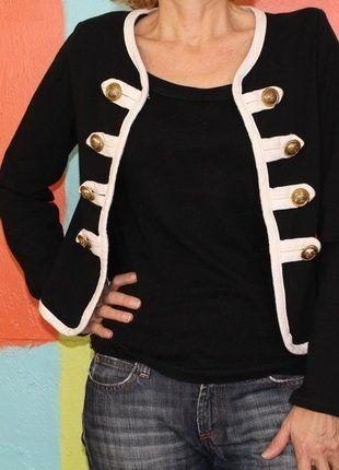 À vendre sur #vintedfrance ! http://www.vinted.fr/mode-femmes/vestes-peplum/35615201-veste-style-vintage-officier-militaire-ts36-38-demi-saison-chicglamourretro