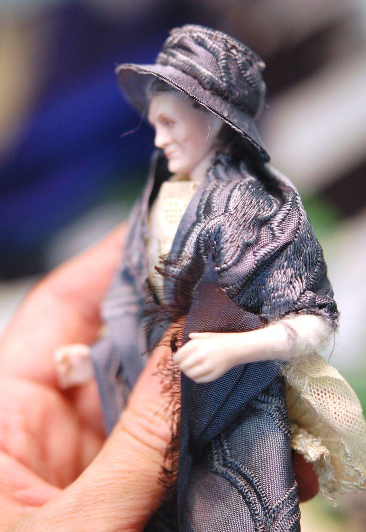 1:12 porcelain doll by Taru Astikainen