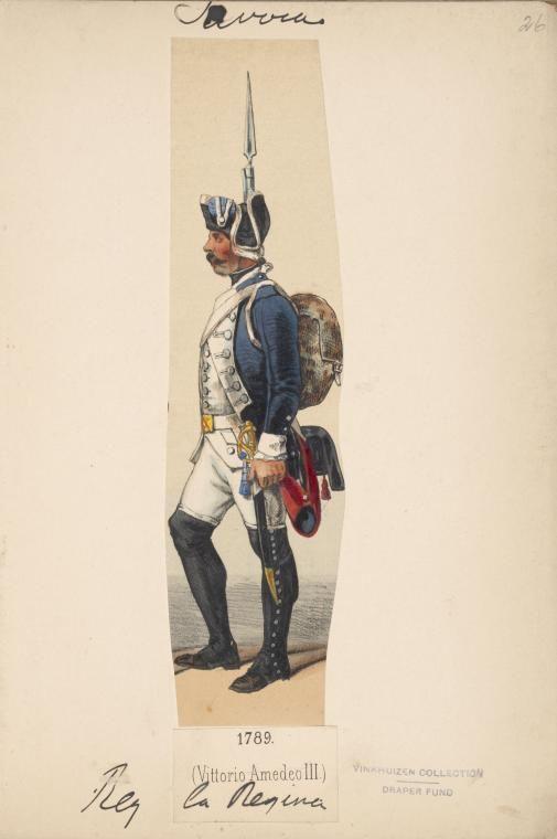 Savoy Infantry Regiment La Regina 1789