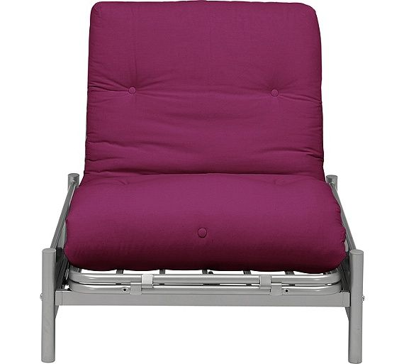 Buy ColourMatch Single Futon Sofa Bed With Mattress Purple Fizz At Argosco Living RoomsLiving Room