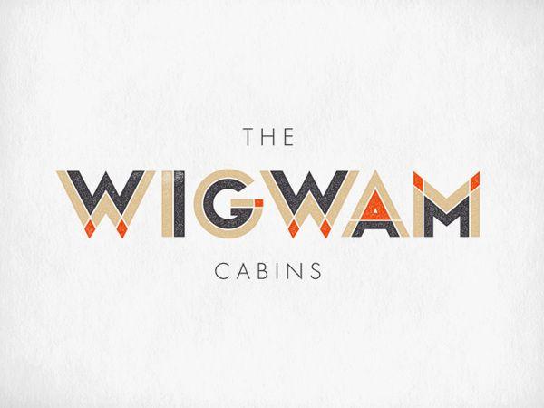 The Wigwam Cabins Branding by Oat Studio via Design is Yay!