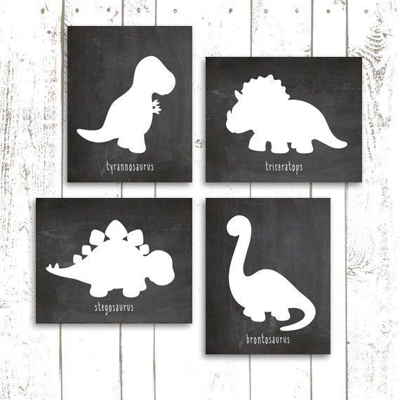 Dinosaur Art Print Chalkboard Printable by MooseberryPrintables, $20.00