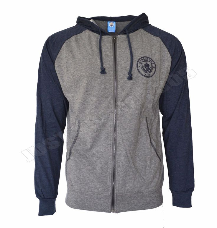 Youth Manchester City Soccer Lightweight Full-Zip Hoodie