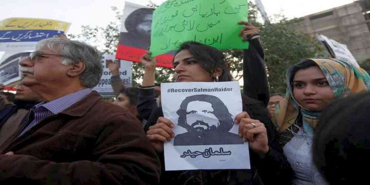 """Top News: """"PAKISTAN POLITICS: Missing Activist Salman Haider 'Recovered'"""" - http://politicoscope.com/wp-content/uploads/2017/01/Human-rights-activists-hold-a-picture-of-Salman-Haider-who-is-missing-during-a-protest-to-condemn-the-disappearances-of-social-activists-in-Karachi-Pakistan-.jpg - Police sources told Geo News channel that Pakistani poet and activist Salman Haider, who disappeared on Jan. 6, was found late on Friday night.  on World Political News - http://politicosc"""