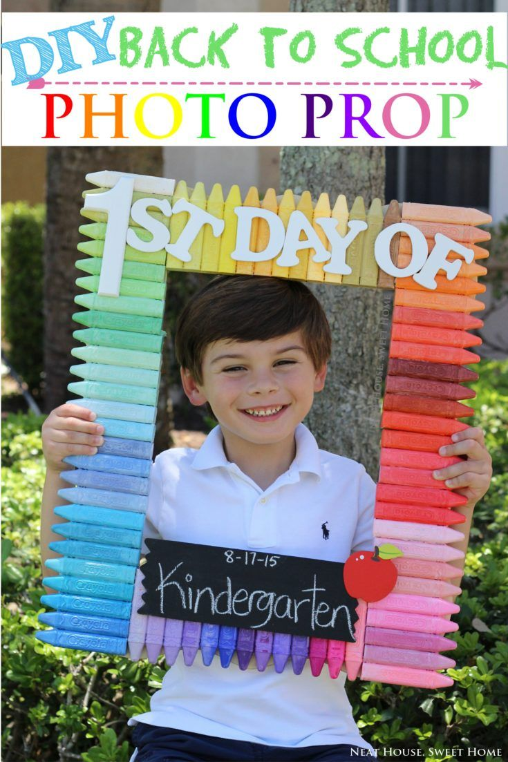 Back to School Photo Frame | FOTO PROPS | First day of school