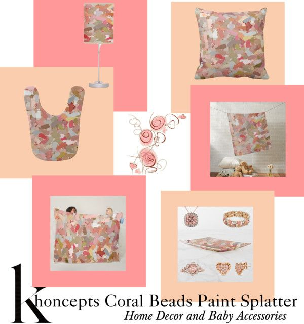 Coral Beads Paint Splatter 5050 home decor and baby gifts