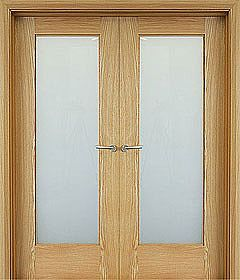 Shaker 1 Lite (40mm) shown as double doors | Internal & Interior Doors | Oak Doors