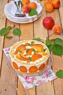 Cheesecake allo yogurt con albicocche e pesche nettarine