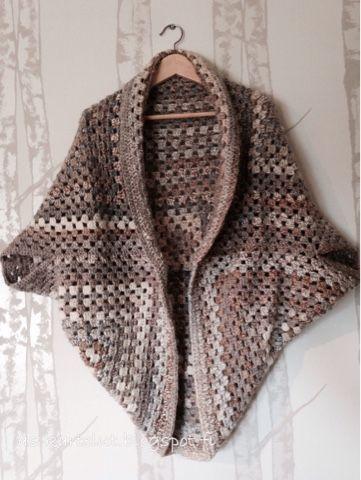 AS-kartelut: Isoäidinneliötakki Granny square #crochet #grannysquare #cardigan