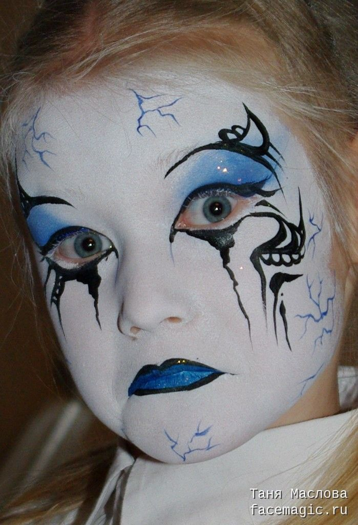 Mime. Face paint by Tanya Maslova.