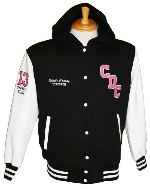 Conroy Dance custom cotton fleece varsity jacket.   Custom made by Team Varsity Jackets. www.facebook.com/TeamVarsityJackets www.teamvarsityjackets.com.au