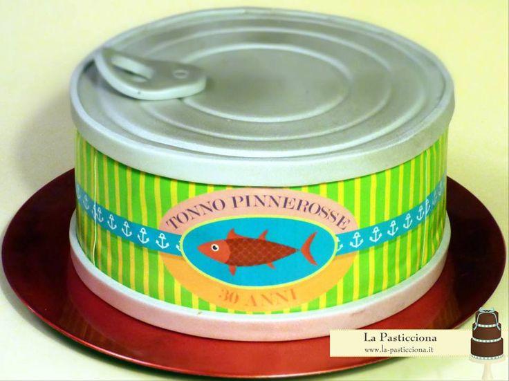 Torta per un neo-vegetariano che ha nostalgia del tonno in scatola!