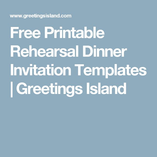 Free Printable Rehearsal Dinner Invitation Templates | Greetings Island
