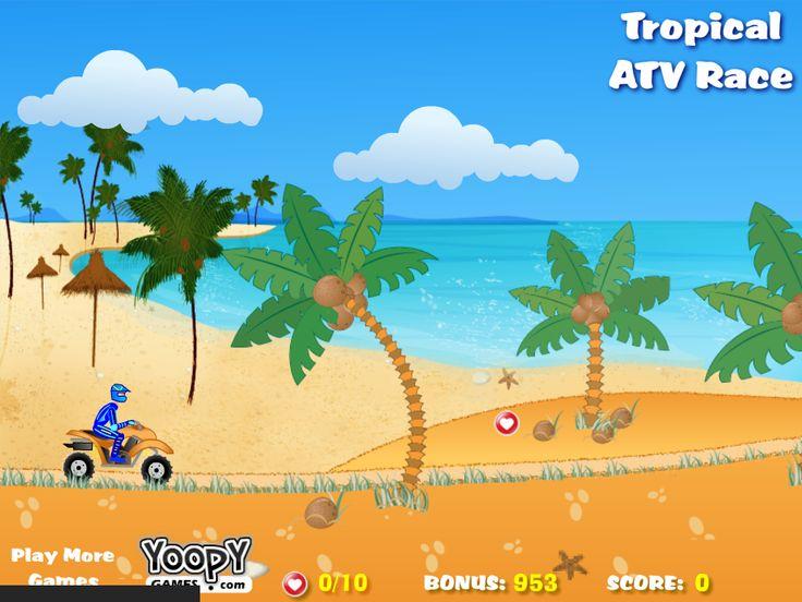ATV aracını kullanma becerilerini gösterme sırası. Bu sefer havalar sıcak, palmiye ağaçları ve sahiller var. Aracını olabildiğince hızlı sür ve bonusları topla.Her bölümü en kısa sürede bulmaya çalış.İyi şanslar!