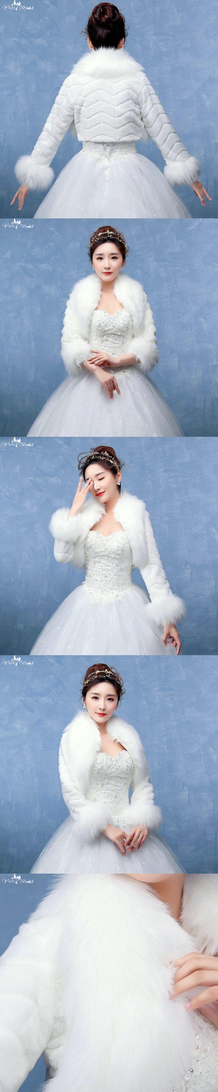 LZP131 Simple Wave Jacket Adult Long Sleeves Wedding Fur Bolero Women