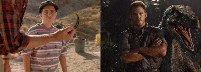 Is the boy from Jurassic Park Chris Pratt's character in Jurassic World?