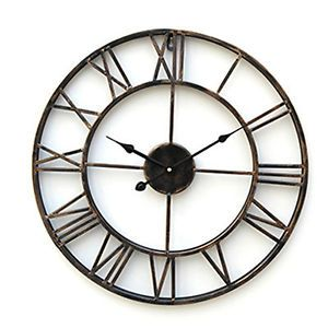 new vintage style rustic punched metal large wall clock home decor art us