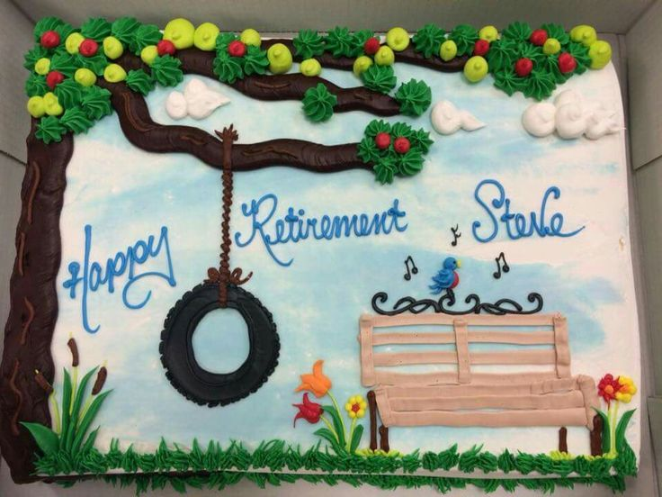 Sheet Cake Designs For Retirement : 25+ beste idee?n over Pensioentaarten op Pinterest ...