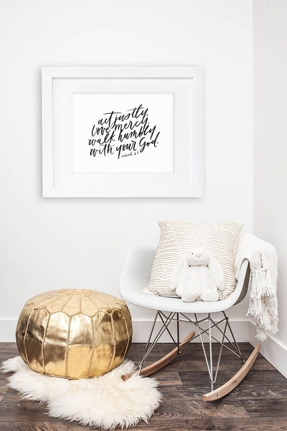 act justly love mercy / micah 6:8 / 11x14 calligraphy print