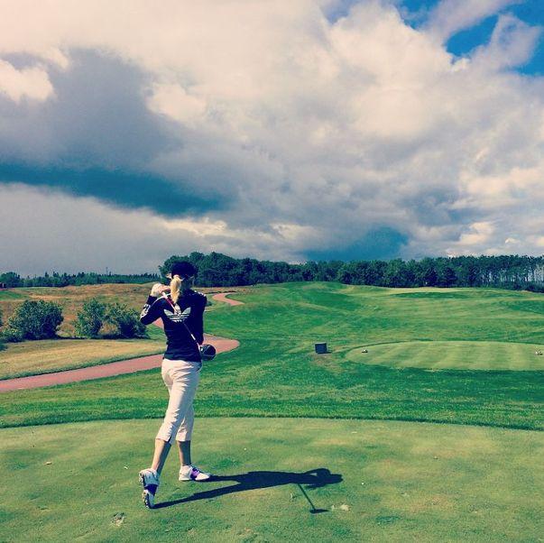 Fantastic tee shot by Instagram user kitkat514 at Fox Harb'r Resort in Wallace, Nova Scotia.