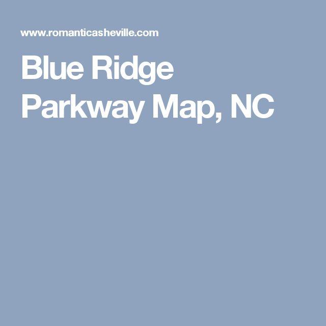 Blue Ridge Parkway Map, NC