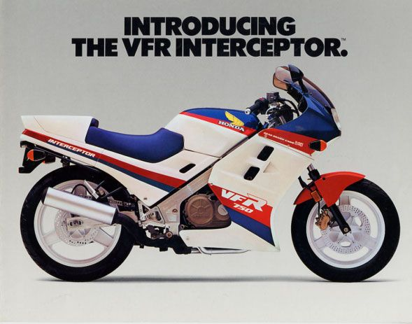 1986 Honda VFR750F Interceptor. I've owned a lot of cool bikes, but this one is right up there. Put over 20K trouble-free miles on it b/f selling. This is one I wish I could've kept. Well, all of 'em, really...