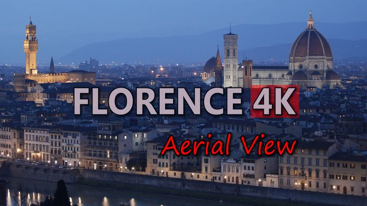 Ultra HD 4K Florence Italy Aerial View Travel Sights City Skyline Day Night UHD Video Stock Footage