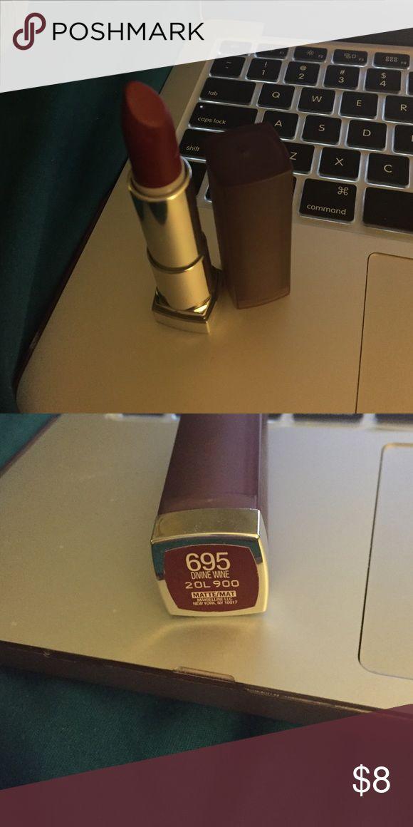 Maybelline matte lipstick 695 Divine wine Maybelline Makeup Lipstick
