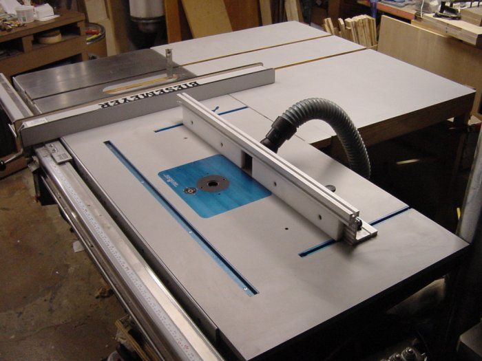 table saw router workstation   Combining Router Station & TableSaw