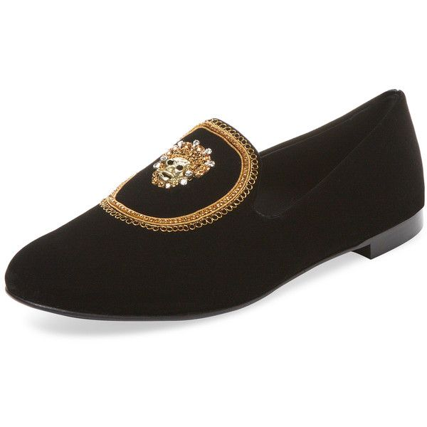 Giuseppe Zanotti Men's Venetian Velvet Loafer - Size 47 (4275 MAD) ❤ liked on Polyvore featuring men's fashion, men's shoes, men's loafers, no color, mens shoes, mens velvet loafers, mens loafer shoes, mens velvet shoes and mens venetian shoes