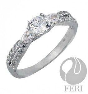 Valentine day gift 2015 Exclusive FERI 950 Siledium silver - 0.5 micron natural rhodium plating