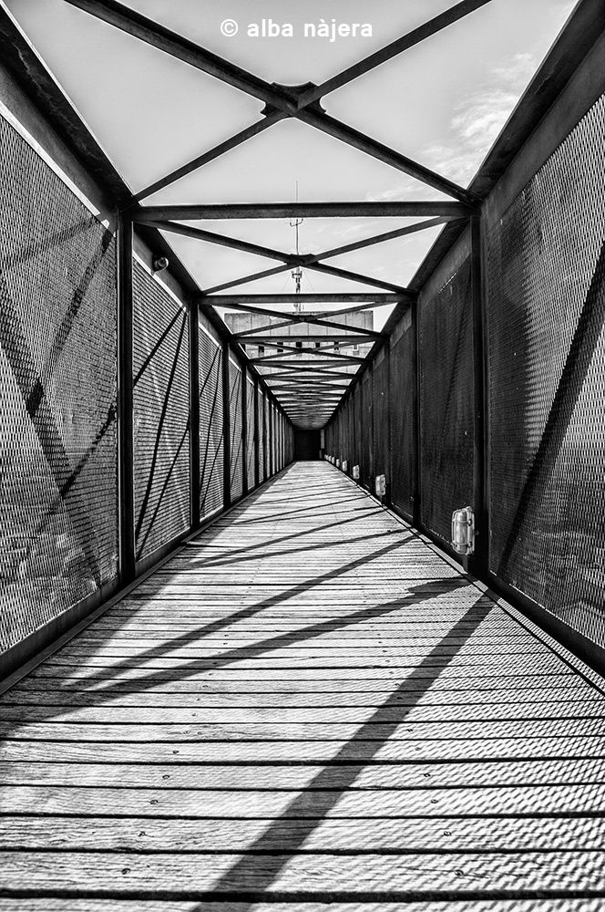 Bridge to nowhere by Alba Najera on 500px #architcture #bw #shadows #shadow