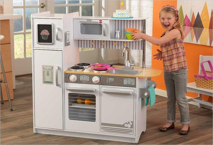 55 best cuisines en bois pour enfants images on pinterest toys wood toys and angles - Cuisine kidkraft blanche ...