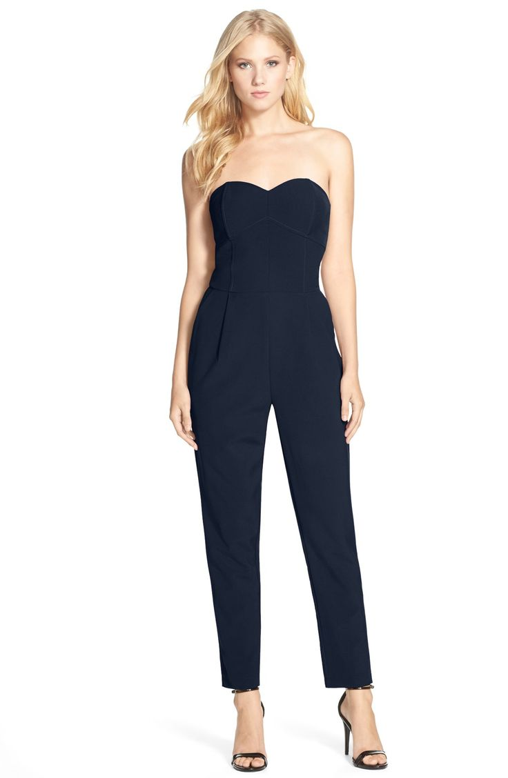 Adelyn Rae Strapless Woven Jumpsuit