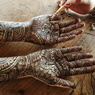 swirling bride's mehndi | A Modern Chic Indian Wedding {Costa Rica} - Gallery