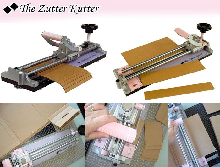 The Zutter Kutter / 1set Cuts almost anything, from chipboard, book board, Zutter Canvas Artboard,foam board, stacks of cardstock, leather and Zutter's Corrugated Cardboard.